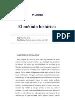 Paul Lafargue, El método histórico