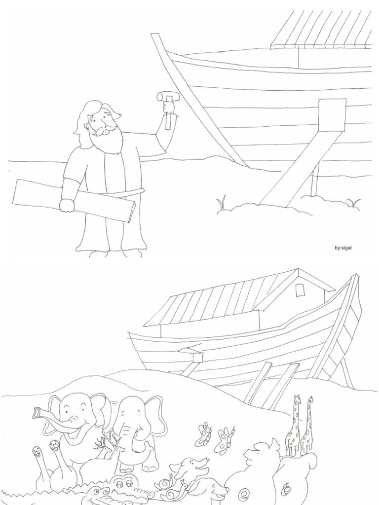 Cerita Bergambar Sekolah Minggu Nabi Nuh