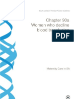 2012-05-22-Chapter 90a Women Who Decline Blood Transfusion