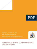 C-Obs 41 Standards in Maternity Care Review Mar 12