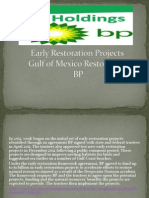Early restoration projects