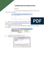 Koneksi Database Dari Ms1