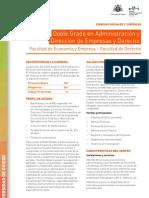 Doble Grado en Administración y Dirección de Empresas y Derecho