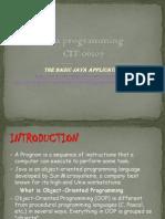 Java Programming Lect1