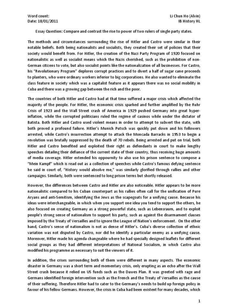 adolf hitler essay introduction