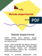 pertemuan 4 Metode eksperimental