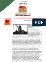CHAMIE, Mário. (2005) Freud, Oswald e Antropofagia. Agulha - Revista de Cultura