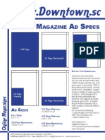 Downtown Magazines Ad Specs