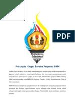 Petunjuk Teknis Gagas Lomba Proposal PKM