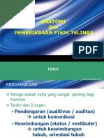 Anatomi & Pemeriksaan Telinga