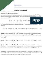 A.2 Transformaciones Lineales