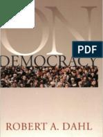 Dahl - On Democracy