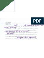 Artifact B (Journal entry, 3/24/13)