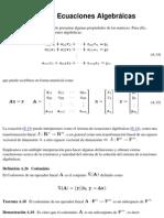 A.4 Sistemas de Ecuaciones Algebráicas
