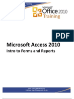 Access2010IntroForms Reports Handout