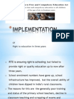 Three Years of Right to Education