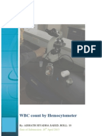 WBC cell count lab diagnostics