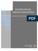 Descripcion Del Analisis Psiquiatrico