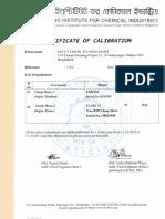 Certificate- Clipon Meter