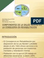 COMPONENTES SALUD MENTAL (INTRO) LCDA. BÁEZ Y LCDO. GIL