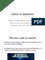 Casino Con Bonos de Bienvenida Sin Deposito
