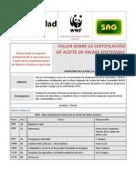 Agenda Taller RSPO 22 - 24 de Mayo-2012