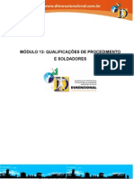 Módulo 13 Qualificação de procedimentos de soldadores