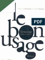 le bon usage grevisse pdf