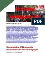 Noticias Uruguayas sábado 20 de abril del 2013