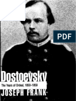 Joseph Frank Dostoevsky the Years of Ordeal, 1850-1859 1987