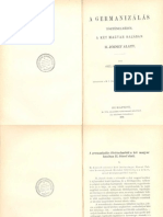 Szilágyi Ferenc - A germanizálás történelméből a két magyar hazában II. József alatt 1876.