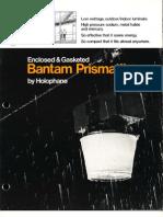Holophane Bantam Prismatite Series Brochure 3-75