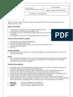 DHR CO FBS SOP 009 Inventory Procedures
