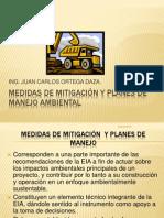 MEDIDAS DE MITIGACIÓN  Y PLANES DE MANEJO