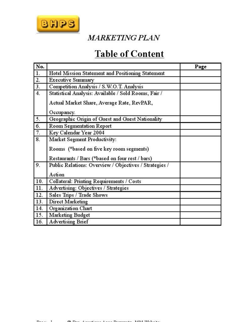 Wonderful Template For Marketing Proposal Contemporary ...