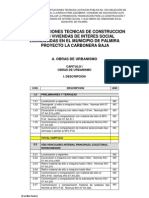 Especificaciones construccion 01