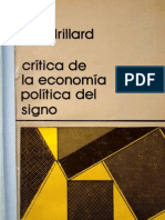 Baudrillard, J. - Crítica de la economía política del signo [1972]