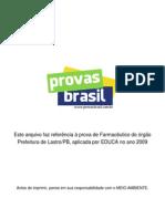 Prova Objetiva Farmaceutico Prefeitura de Lastro Pb 2009 Educa