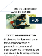 REDACCIÒN DE DIFERENTES TIPOS DE TEXTOS