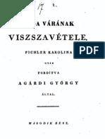 Agárdi György - Buda várának visszavétele 2.kötet 1829.