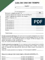 GURPS 4ed  Planilha Uso do Tempo Editável V1.1