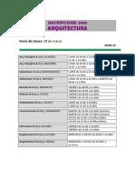 Nivel IV Arquitectura 2013