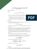 Certamen 1 - Cálculo en Varias Variables (2011)