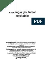 Fiziologia ţesuturilor excitabile