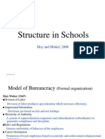 Structure in Schools- Hoy n Miskel ppt