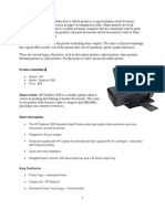 Product Design Specifications HP Deskjet 1000 - School Project