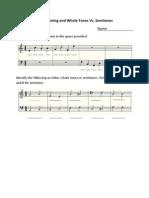 Note Naming and Whole Tones vs. Semitones