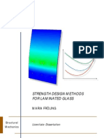 STRENGTH DESIGN METHODS FOR LAMINATED GLASS,