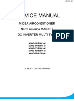 Multi Zone Outdoors Service Manual   Hvac   Air Conditioning