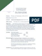 Strategy Course Outline FCC 2013a